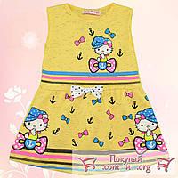 Летнее платье с кошечкой для девочек от 1 до 5 лет (5363-1)