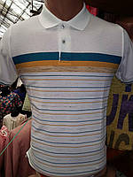 Турецкая мужская футболка поло в полоску