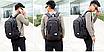 Рюкзак городской Dxyizu с выходом для гаджетов черный, фото 5