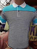 Мужская футболка поло в мелкую полоску