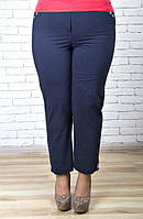 Летние легкие темно-синие укороченные брюки 168837 ТМ Ирмана 52-60 размеры