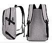 Рюкзак городской Dxyizu с выходом для гаджетов черный, фото 7
