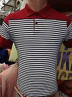 Стильная полосатая мужская футболка поло