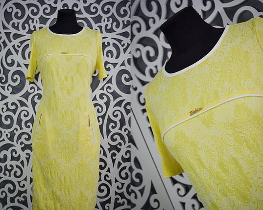 """Миловидное женское платье """"Стрейч-коттон"""" с набивным рисунком 50, 52, 54, 56, 58 размер баталы, фото 2"""