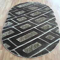 Пушистый ковёр Liza King 1030 с 3D эффектом коричневый