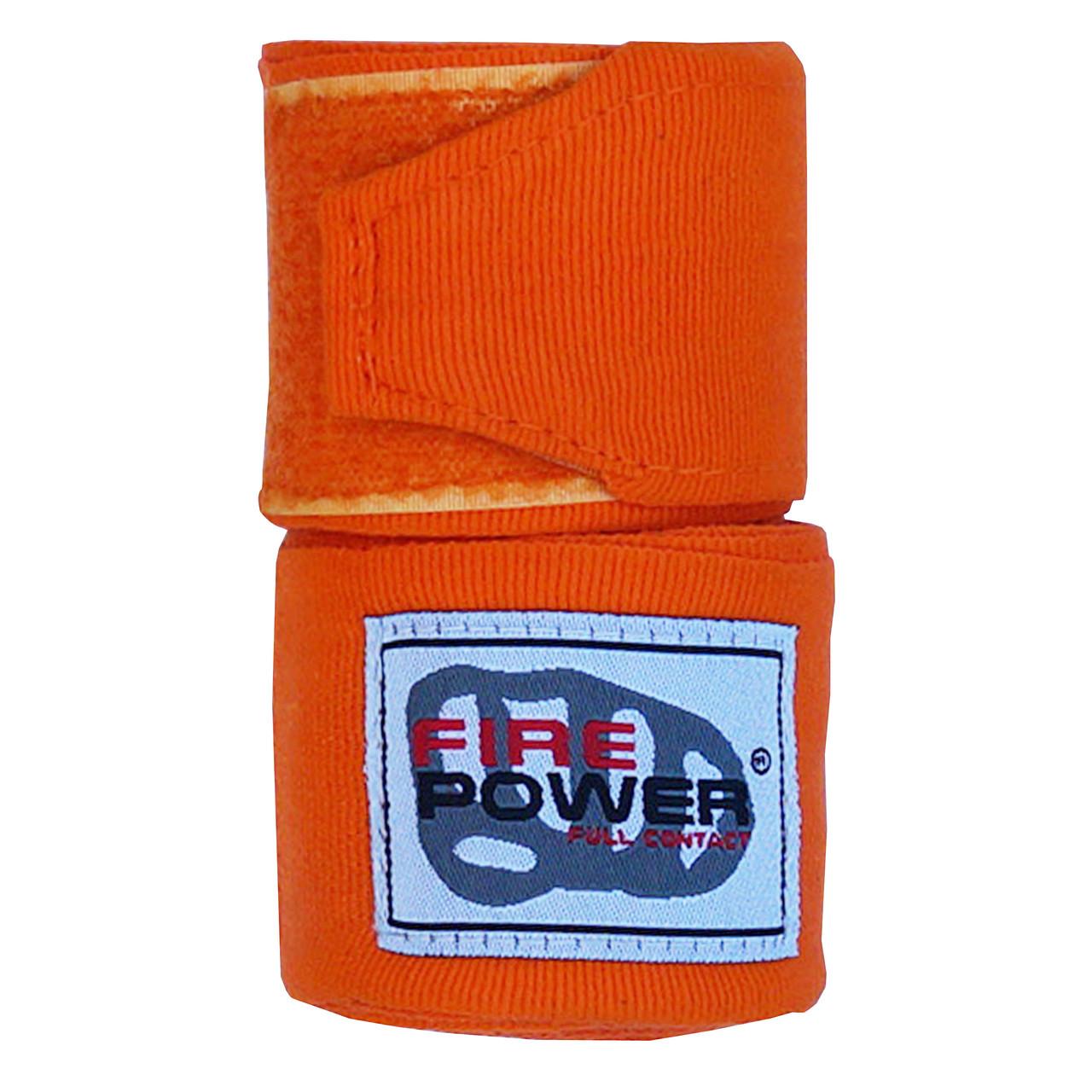 Бинты боксерские эластичные Firepower FPHW3 Оранжевые