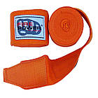Бинты боксерские эластичные Firepower FPHW3 Оранжевые, фото 4