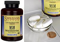 Swanson, MSM, 1500 мг, 120 таблеток