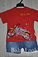 Комплект летний: футболка и джинсовые шорты (Турция)