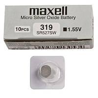 Батарейки  MAXELL SR527SW-B1 (319) серебро
