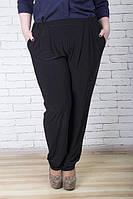 Черные брюки большого размера ГРАЦИЯ  ТМ Ирмана 54-64 размеры
