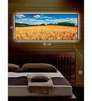 Картина с подсветкой Пшеничное поле 29x69