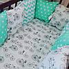 Бортики-защита в детскую кроватку — хлопок: премиум-класс