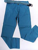 Котоновые брюки для мальчиков, 10-13, бирюзовый