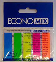 Клейкие закладки. Стикер 5 цв. 125 л. неон Е20945 Economix Германия