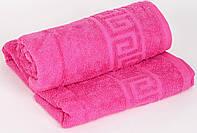 Полотенце махровое Туркменистан 40х70 темно-розовое