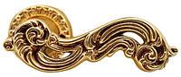 Ручка дверная на розетке Poggi & Mariani Sagoma античная латунь (Италия)