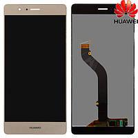 Дисплейный модуль (дисплей + сенсор) для Huawei G9 Lite / P9 Lite, золотистый, оригинал