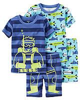 """Пижама для мальчика 4в1 Carter's """"Аквалангист"""" 2Т,3Т,4Т,5Т"""