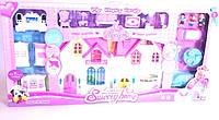 Игрушечный дом с куклами