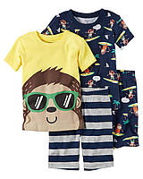 """Пижама для мальчика 4в1 Carter's """"Отдых"""" 2Т,3Т,4Т,5Т"""