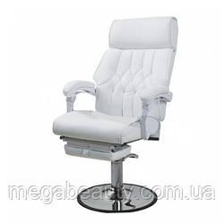 Педикюрное кресло zd-991 — с выдвижной цельной подножкой, цвет белый