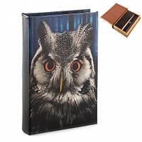 Шкатулка книга-сейф с совой