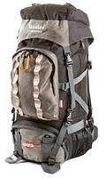 Рюкзак туристический с накидкой на 80 литров DEUTER GRETE 80 (серый рас.1)