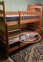 Двухъярусная кровать - Карина — Люкс Оптима, самая низкая цена от производителя, Акция!!! С удобной лестницей