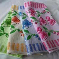 Махровые салфетки для кухни разных цветов