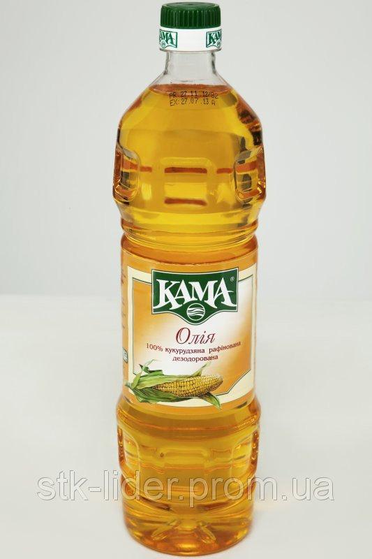 """Масло кукурузное рафинированное """"Кама"""" 1л"""