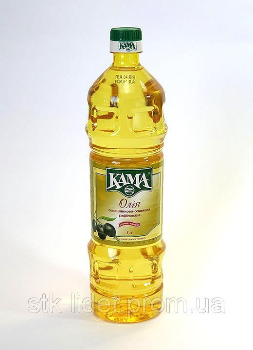 """Масло оливково-подсолничное рафинированное 1л """"Кама """""""