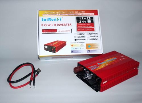 Автомобильный инвертор, преобразователь напряжения Lai Run 12/220 2500