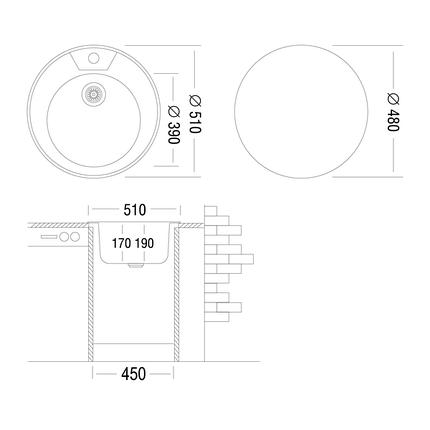 Кухонная мойка UKINOX FA*510 GT 6K( Decor) Турция, фото 2