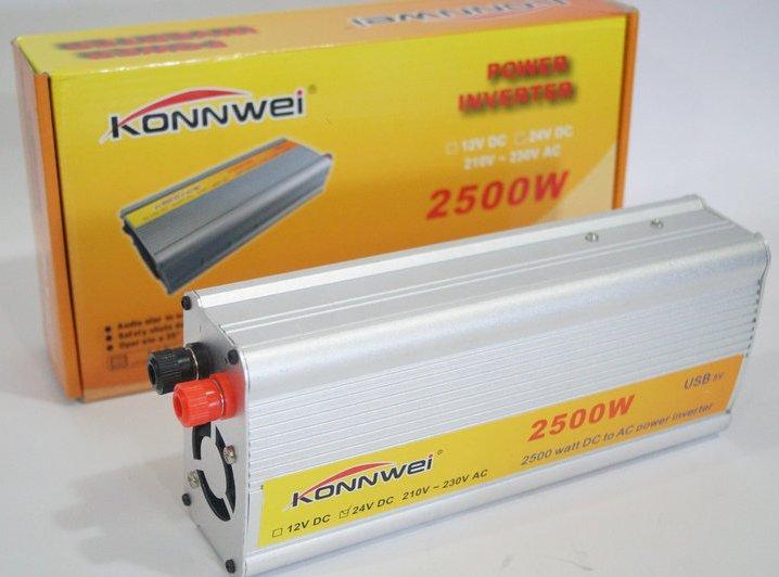 Автомобильный инвертор, преобразователь напряжения Konnwei 12/220 2500w, фото 1