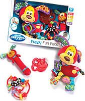 """Подарочный набор из 4 погремушек-прорезывателей """"Щенок"""" Playgro Puppy Teether Gift Pack Оригинал из США"""