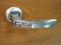 Ручка дверная VOLT сатин + хром