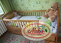 Акция! Односпальная кровать - Карина Люкс, самая низкая цена от производителя. Из натурального цельного дерева
