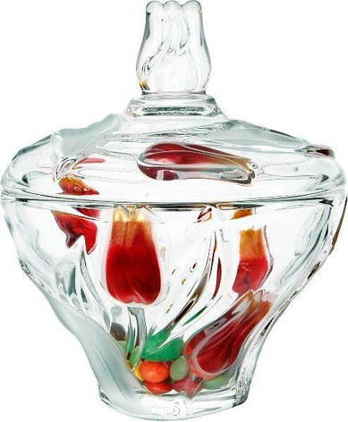 Walther-Glas Nadin Satin-Red-Gold Сахарница 16см  w6153, фото 2