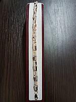 Серебряный браслет с золотыми накладками Арт.084/10/б