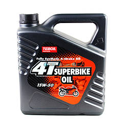 Моторное масло Teboil  4T Super Bike Oil 15W-50 4L
