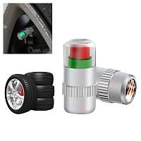 Ковпачки на ніпель колеса з індикатором тиску 2,2 bar, матеріал метал/пластик, комплект 4 шт.