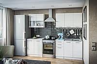 Кухня Бьянка белый глянец 2,6 со столешней