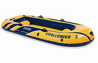 "Надувная лодка Intex ""Challenger 3"", 68370 (насос, весла)"