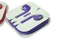 Наушники Apple EarPods с пультом дистанционного управления и микрофоном (цветные) Поштучно Фиолетовые