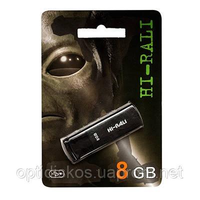 Флешка Hi-Rali 8GB Vektor series, черная, фото 2
