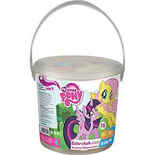 Мел цветной Jumbo, Kite, 15 штук в ведре My Little Pony