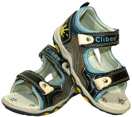 Детские кожаные босоножки для мальчика Clibee Польша размеры 25-30