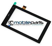 """Оригинальный Сенсор (Тачскрин) для планшета 7"""" TPT-070-360 (187*114 мм,30 pin) (Черный-Самоклейка)"""