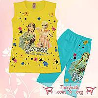 Летние костюмы Холодное сердце для девочек от 3 до 6 лет (5405-3)